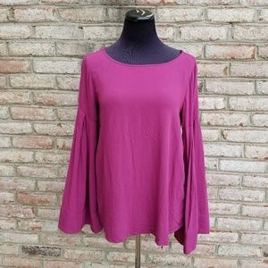 NWT Bell Sleeve Magenta Blouse